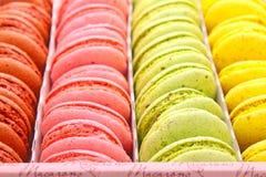 Macarrones multicolores Imagenes de archivo