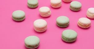 Macarrones sabrosos dulces almacen de video
