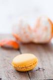Macarrones y naranja Imagen de archivo libre de regalías