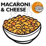 Macarrones y queso ilustración del vector