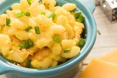 Macarrones y queso cocidos al horno Imagen de archivo libre de regalías