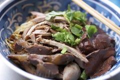 Macarronete chinês do pato Imagem de Stock Royalty Free