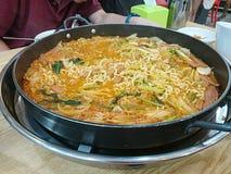 Macarronete coreano do hotpot Fotografia de Stock Royalty Free