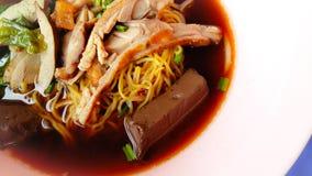 Macarronete da sopa com pato Imagens de Stock