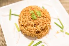 Macarronete de arroz friável Foto de Stock