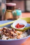 Macarronete picante secado do camarão Imagens de Stock Royalty Free