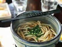 Macarronete quente do Udon do estilo japonês Fotos de Stock