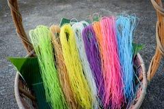 Macarronete seco colorido Fotos de Stock Royalty Free