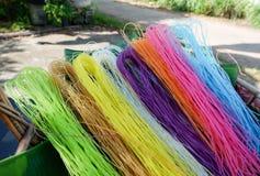 Macarronete seco colorido Foto de Stock