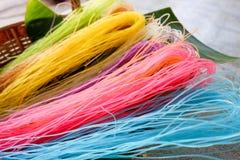 Macarronete seco colorido Imagens de Stock Royalty Free