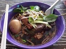 Macarronete tailandês da galinha Fotos de Stock