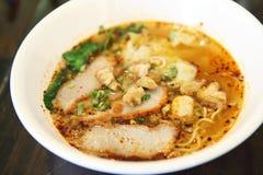 Macarronete tailandês de Tom do alimento yum no estilo tailandês fotografia de stock