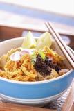 Macarronete tailandês do caril do soi de Khao. Fotografia de Stock