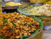 Macarronete tailandês do marisco fotos de stock