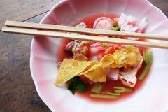 Macarronete tailandês Yen Ta Fo Imagem de Stock