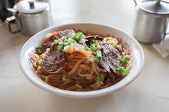 Macarronete taiwanês da carne Foto de Stock