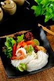 Macarronete tom yum, alimento tailandês imagens de stock royalty free