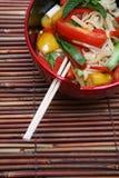 Macarronetes asiáticos Fotografia de Stock