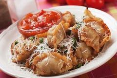 Macarronetes asiáticos fritados Imagem de Stock