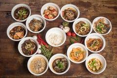 Macarronetes chineses para o frigideira chinesa Foto de Stock Royalty Free