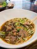 Macarronetes com carne Stew Soup imagem de stock royalty free