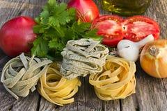 Macarronetes com vegetal Fotografia de Stock Royalty Free