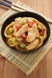 Macarronetes da galinha de Teriyaki Imagem de Stock