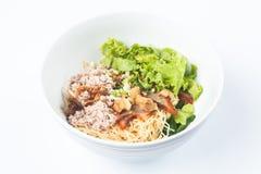 Macarronetes de arroz do ovo Imagem de Stock Royalty Free