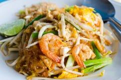 Macarronetes de arroz finos fritados Fotografia de Stock Royalty Free