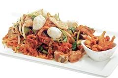 Macarronetes de arroz fritado Imagens de Stock