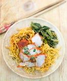 Macarronetes de ovo chineses Fotografia de Stock