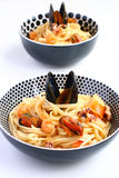 Macarronetes de Udon com marisco Fotos de Stock Royalty Free