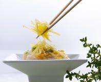 Macarronetes do sprout de feijão Fotografia de Stock