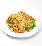 Macarronetes fritados chinês Imagens de Stock Royalty Free