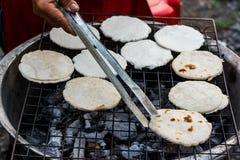Macarronetes grelhados da farinha. Imagem de Stock Royalty Free