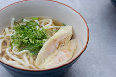 Macarronetes japoneses com sopa Imagem de Stock Royalty Free