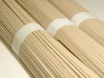 Macarronetes japoneses de Soba Foto de Stock