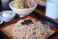 Macarronetes japoneses de Soba Fotografia de Stock Royalty Free