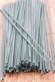 Macarronetes orgânicos de Spirulina Imagens de Stock Royalty Free