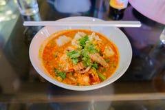Macarronetes picantes das lagostas Foto de Stock Royalty Free