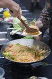 Macarronetes tailandeses - cozinhando Fotos de Stock Royalty Free
