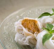 Macarronetes tailandeses do alimento Imagem de Stock Royalty Free