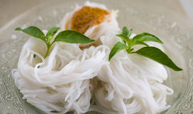 Macarronetes tailandeses do alimento Foto de Stock Royalty Free