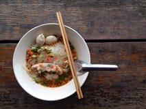 Macarronetes tailandeses do estilo Foto de Stock