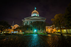 Macarthur纪念博物馆在晚上,在诺福克,弗吉尼亚 库存图片