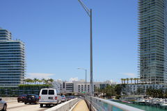 Macarthur Bridge Miami Beach Stock Images