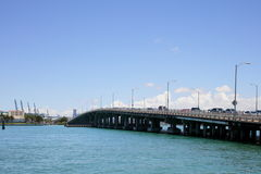 Macarthur Bridge Miami Beach Stock Image