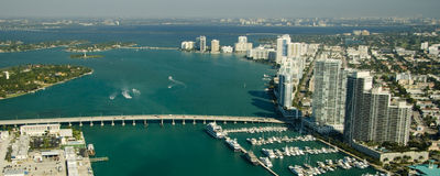 Miami city marina Royalty Free Stock Image