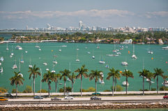 MacArthur causeway in Miami Royalty Free Stock Image