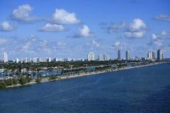 MacArthur Causeway in Miami Royalty Free Stock Photos